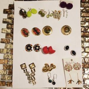 Post Earrings Lot of 17 Pairs